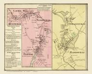 Burrillville Laurel Hill Pascoag Harrisville, Rhode Island 1870 - Old Town Map Reprint