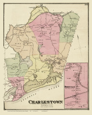 Charlestown, Rhode Island 1870 - Old Town Map Reprint