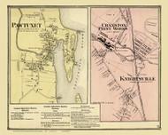Cranston Pawtuxet Knightsville, Rhode Island 1870 - Old Town Map Reprint