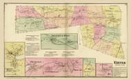 Exeter Shannock Mills Centerville, Rhode Island 1870 - Old Town Map Reprint