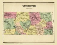 Glocester, Rhode Island 1870 - Old Town Map Reprint