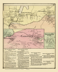 Hopkinton Laureldale Hope Valley Potters Hill, Rhode Island 1870 - Old Town Map Reprint