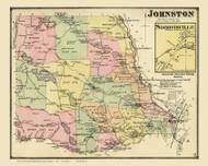 Johnston, Rhode Island 1870 - Old Town Map Reprint