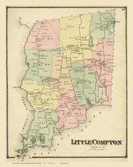 Little Compton, Rhode Island 1870 - Old Town Map Reprint