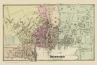 Newport City, Rhode Island 1870 - Old Town Map Reprint