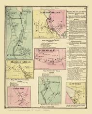 North Providence, Manton Village, Graniteville & Allendale, Rhode Island 1870 - Old Town Map Reprint