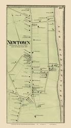 Portsmouth - Newtown Custom, Rhode Island 1870 - Old Town Map Reprint