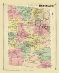 Scituate, Rhode Island 1870 - Old Town Map Reprint