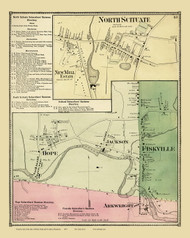 Scituate, North Scituate, Fiskville & Arkwright, Rhode Island 1870 - Old Town Map Reprint