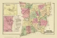 South Kingstown, Rhode Island 1870 - Old Town Map Reprint