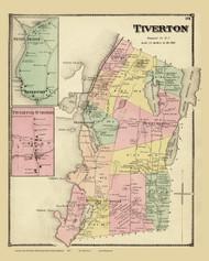 Tiverton, Rhode Island 1870 - Old Town Map Reprint