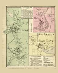 Warwick Centerville Apponaug Natick Crompton, Rhode Island 1870 - Old Town Map Reprint