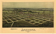 Ardmore, Oklahoma 1891 Bird's Eye View