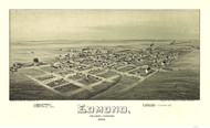 Edmund, Oklahoma 1891 Bird's Eye View