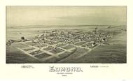 Edmund, Oklahoma 1891 Bird's Eye View