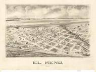 El Reno, Oklahoma 1891 Bird's Eye View