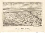 El Reno, Oklahoma 1891 Bird's Eye View