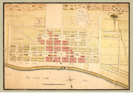 Savannah ca. 1776  - Old Map Reprint - Georgia Cities