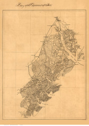 Savannah ca. 1861 [Surroundings, harbor, islands inckuding Hilton Head] - Old Map Reprint - Georgia Cities