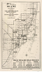 Miami 1925  - Old Map Reprint - Florida Cities