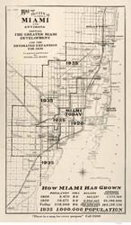 Miami 1925  - Old Map Reprint - Florida Cities