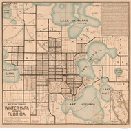 Winter Park 1885  - Old Map Reprint - Florida Cities