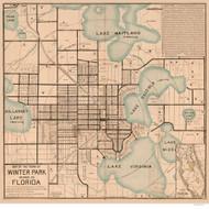 Winter Park 1885  - Old Map Reprint - Florida Cities