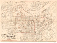 Louisville ca 1879 Louisville Abstract and Loan Association - Old Map Reprint - Kentucky Cities