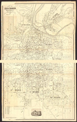 Ann Arbor 1869 Pettibone - Old Map Reprint - Michigan/Cities
