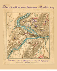 Harpers Ferry 1862 Sneden - Old Map Reprint - West Virginia Cities