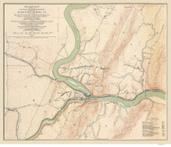 Harpers Ferry 1895 Michler - Old Map Reprint - West Virginia Cities