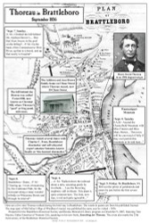 Thoreau in Brattleboro  - 1856 - Vermont - Old Map Reprint VT Specials