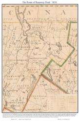 Runaway Pond - 1810 - Vermont- Old Map Reprint VT Specials