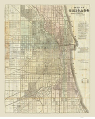 Chicago 1857 Blanchard - Old Map Reprint -  Illinois Cities