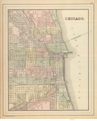Chicago 1886 Mitchell - Old Map Reprint -  Illinois Cities