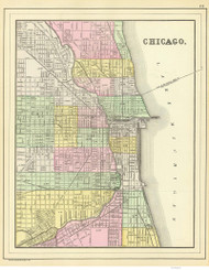 Chicago 1890 Mitchell - Old Map Reprint -  Illinois Cities