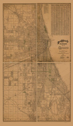 Chicago 1892 Rand, McNally  - Old Map Reprint -  Illinois Cities