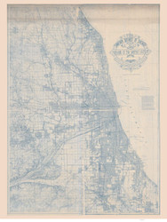 Chicago 1895 Sanitary District - Old Map Reprint -  Illinois Cities