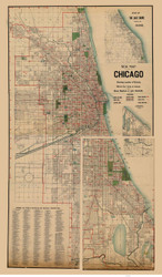 Chicago 1897 Blanchard - Old Map Reprint -  Illinois Cities