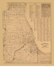 Chicago Area 1899 Rand, McNally  - Old Map Reprint -  Illinois Cities