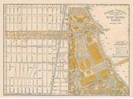 Chicago Columbian Exposition (Miniature) 1893 Rand, McNally  - Old Map Reprint -  Illinois Cities