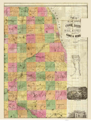 Cook County and surrounding area 1862 Blanchard - Old Map Reprint -  Illinois Cities