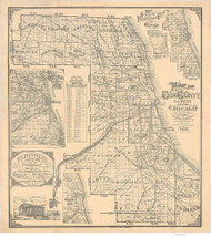 Cook County  1893 Rossiter - Old Map Reprint -  Illinois Cities