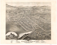 Bennington, Vermont 1877 Bird's Eye View