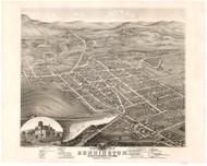 Bennington, Vermont 1877 Bird's Eye View