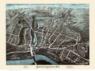 Brattleboro, Vermont 1876 Bird's Eye View