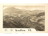 Ludlow, Vermont 1885 Bird's Eye View