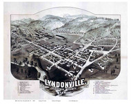 Lyndonville, Vermont 1884 Bird's Eye View
