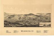 Wilmington, Vermont 1891 Bird's Eye View