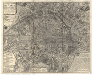 Paris, France 1705 DeFer - Old Map Reprint